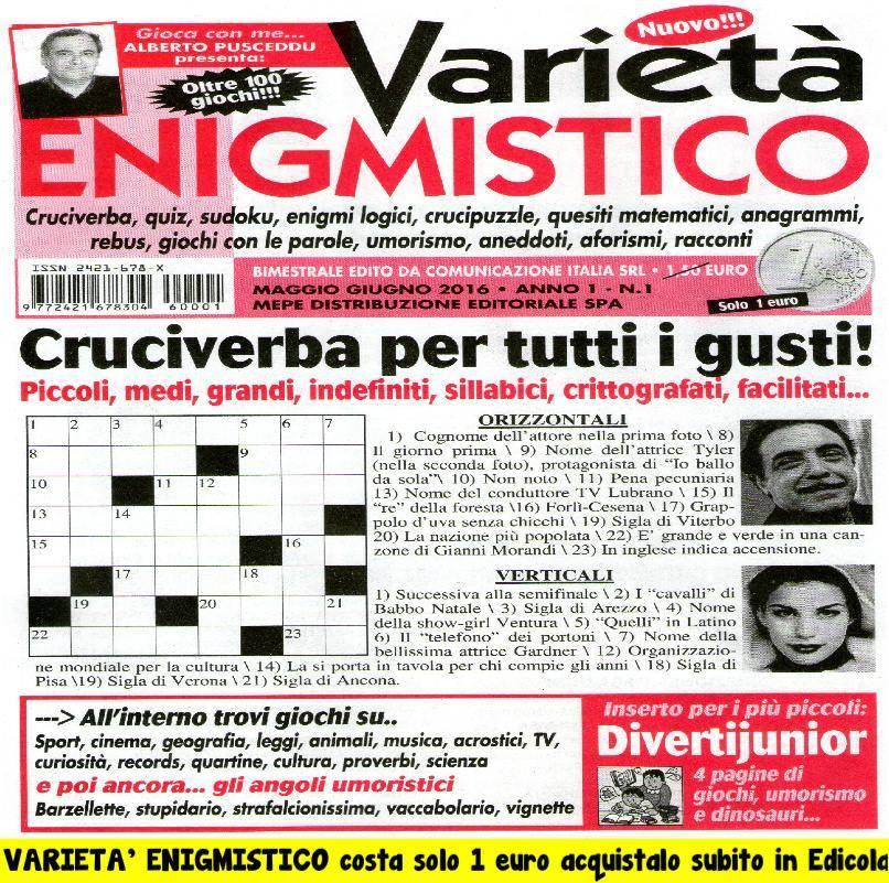 VARIETA' ENIGMISTICO