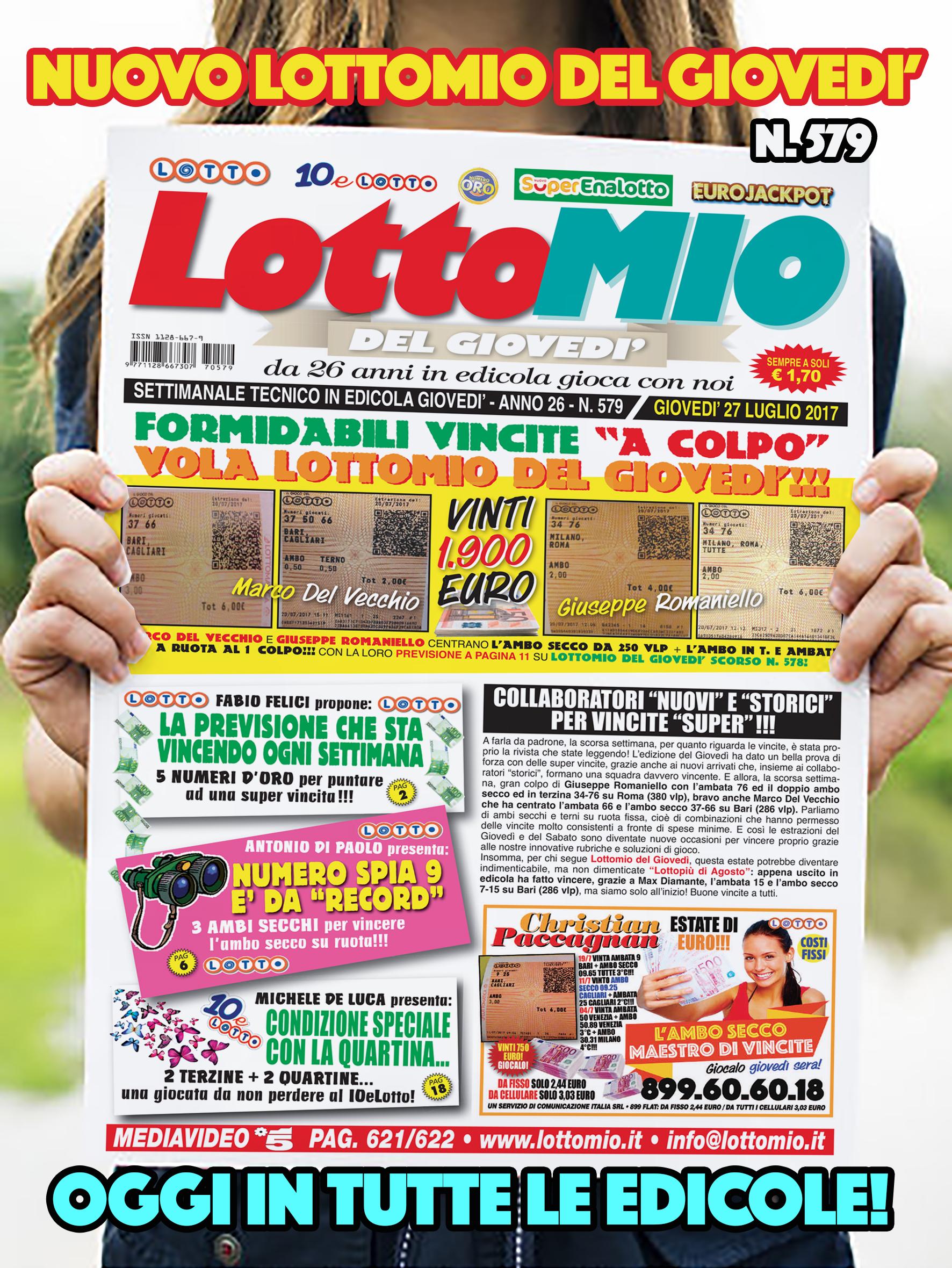 Numeri for Estrazione del lotto di stasera