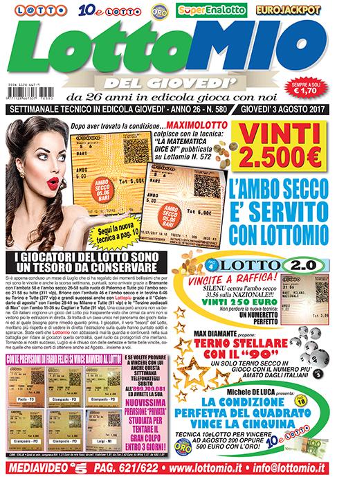 Lottomio del Giovedì n. 580
