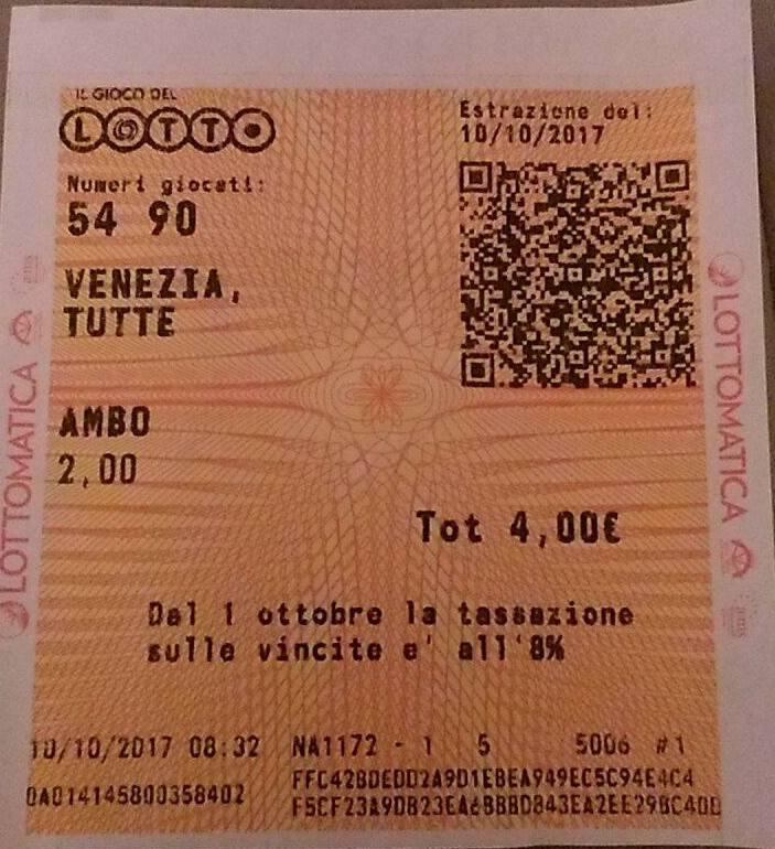 ROMANIELLO 899 - VINTO AMBO SECCO 54.90 TT 1C