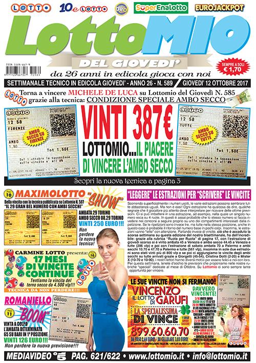 Lottomio del Giovedì n. 589
