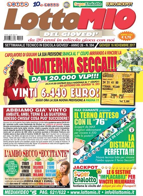Lottomio del Giovedì n. 594