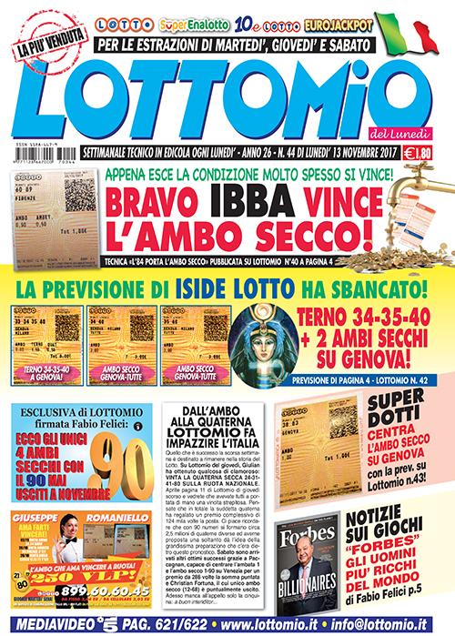 Lottomio del Lunedì n. 43