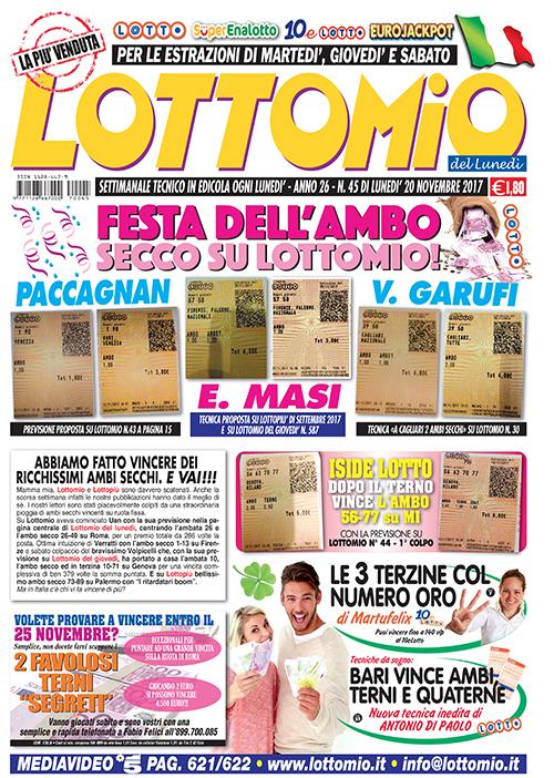 Lottomio del Lunedì n. 45