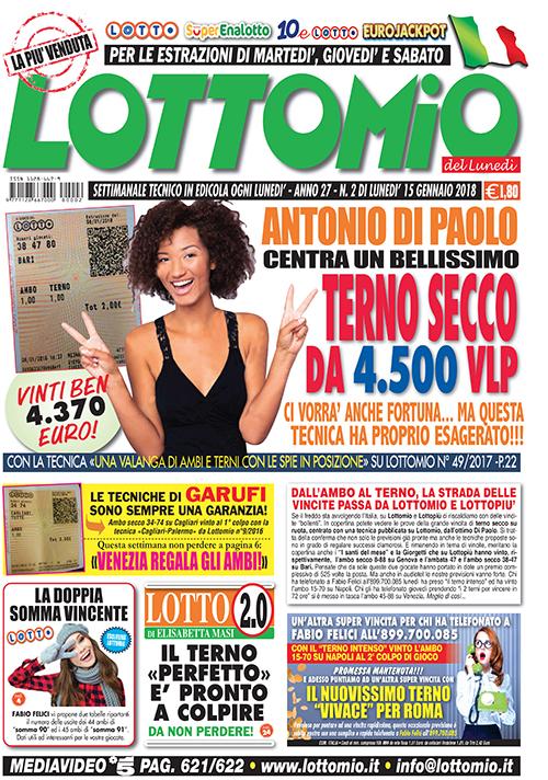 Lottomio del Lunedì n. 02