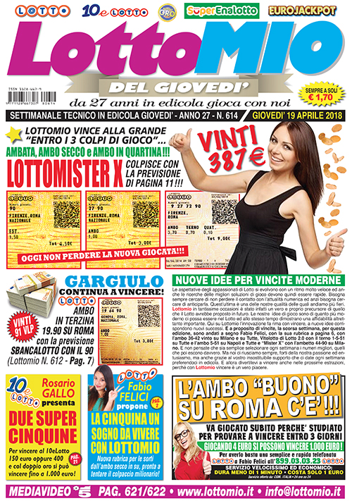 Lottomio del Giovedì n. 614