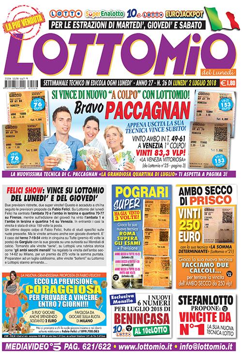 Lottomio del Lunedì n. 26